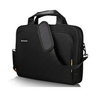 laptop mit hülse großhandel-Laptop Schultertasche für Lenovo T1640 Handbag Aktentasche Tragetaschen Damen Herren Notebook-Hülle Messenger Portable Tasche Schwarz 14