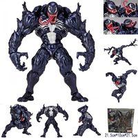 muñecas de juego al por mayor-Superhero Venom Plastic Doll toys 2018 New kids Avengers Cartoon game spiderman venom figura de juguete serie No.003 B