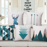 Wholesale handmade arrows for sale - Group buy teal color geometric cushion cover nordic decoration pillowcase for home office cafe deer cojines arrow almofada