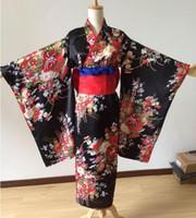 japanese kimono geisha al por mayor-Kimono japonés chica tradicional Geisha niña cosplay Hell Cherry trajes