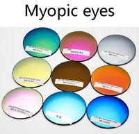 óculos de sol personalizados venda por atacado-2018 New Sunglasses 1.50 índice refracvtive Lentes Coloridas Personalizado RX Prescrição Miopia Miopia Lentes Polarizadas UV400
