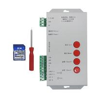 rgb led ws2812b al por mayor-Edison2011 T1000S Tarjeta SD WS2801 WS2811 WS2812B LPD6803 Controlador de 2048 píxeles LED DC5 ~ 24V T-1000S Controlador RGB 5pcs DHL gratuito