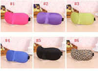 Wholesale 3d Travel Sleep Mask - 3D Sleep Mask Natural Sleeping Eye Mask Eyeshade Cover Shade Eye Patch Blindfold Travel Eyepatch 6 color in stock