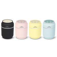 lampara led mini fan al por mayor-3 en 1 200 ml USB puede formar humidificador de aire 7 color LED Aroma Lámpara Difusor de aceite esencial fabricante de nebulización fabricante con mini ventilador