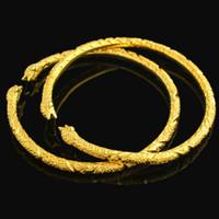 zubehör armbänder großhandel-1 Stück Big Size Animal Design Armband Herren Schmuck 18k Gelb Gold gefüllt Manschette Armreif Mode-Accessoires