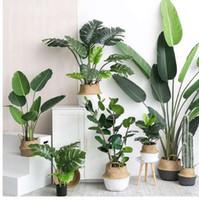 graspflanzen für den garten großhandel-Künstliche Pflanzen Grüne Schildkröte Blätter Garten Wohnkultur 1 Bouquet Mexikanische Herbst Dekoration Kunstrasen Pflanze