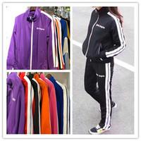Wholesale rainbow pencils - New Palm Angels Pants Women Men High Quality Joggers Hip Hop Streetwear Rainbow Exclusive Drawstring Sweatpants Trousers S-XL