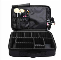 kozmetik kutusu büyük toptan satış-Makyaj Fırça Çanta Case Makyaj Organizatör Tuvalet Çanta Depolama Kozmetik Çantası Büyük Tırnak Sanat Aracı Kutuları Ile Taşınabilir Bolso