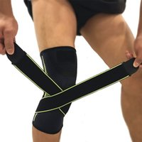 Compressed knee protector S M L double winding band basketball knee warmers no slip elastic adult safety guard knee pad