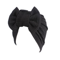 Wholesale Muslim Girls - Muslim Women Cotton Stretchable Soft Indian Lady Turban Hat Head Wrap Ruffle Chemo Beanie Skull Hijab Cap For Cancer Hair Loss