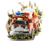 Wholesale large truck toy - Selling children's inertia toy car Large simulation ladder truck fire engine model toy wholesale
