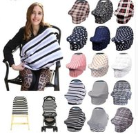 Wholesale baby car covers - 34 design Baby Car Seat Cover Toddler Canpony Nursing Cover Multi-Use Stretehy Infinity Scarf Breastfeeding Shipping Car cover KKA5021