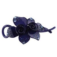 acryl klauen haarspangen großhandel-4 Farben Mode Acetat Schöne Haarspangen Clip Für Frauen Acryl Blume Haarspange Claw Haarspange Headwear ornamente