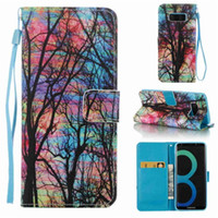 Wholesale 3d note case cartoon online - 3D Wallet Leather Flip For New iPhone inch X XS Plus Samsung Note S9 Cartoon Flowers Case Phone Bag Cover SCA469