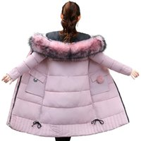 baumwoll-frauen lange jacken großhandel-New Long Parkas Frauen Womens Winterjacke Mantel Dicke Baumwolle Warme Jacke Damen Outwear Parkas Plus Size Pelzmantel