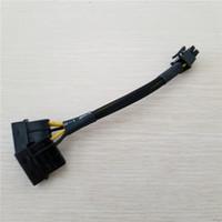 pci tarjeta de video al por mayor-Venta al por mayor 100 unids / lote PC Desktop DIY Dual 4Pin IDE Molex a PCI-E Tarjeta de Video Display Gráficos 6Pin fuente de alimentación Cable con mangas 20 cm