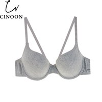 Wholesale Cup Bra Size B - Cinoon New Arrival Women Comfortable Cotton Underwear Push Up Bra Gray Color Choose Bra B C Cup Plus Size Women Underwear Bra