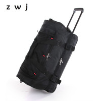 Wholesale Travel Trolley Wheels Luggage Bag - 22 inch large capacity travel bag Oxford trolley travel bag rolling luggage suitcase with wheels carry on luggage
