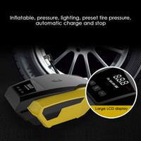 lampe de poche 12v achat en gros de-Pompe de gonflage de pneu de voiture électrique DC 12V Digital Portable automatique pompe de compresseur d'air de pneu pour multifonction avec lampe de poche LED