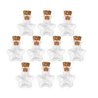 wünschte flaschensterne großhandel-10 stücke Sternform Mini Glasflaschen Schmuck Perlen Display Fläschchen Gläser Container Kleine Wunschflasche