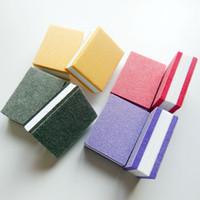 tırnak süngerleri toptan satış-Mini tırnak tampon blok sünger blok tek tırnak dosya 100/180 mini tırnak tampon dosya manikür aracı
