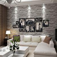 Wholesale wall decoration bricks - 3D Brick Stone Wallpaper Textured Wallpaper Roll Brick Wall Background for Home Art Decoration Wall Paper Sticker