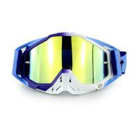 Wholesale Motocross Glasses - Motocross Goggles Sky Blue Glasses Motorcycle Oculos ATV Lunette Moto Gafas Sunglasses Ski Snowboard Windproof Goggles Dustproof