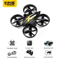 Wholesale Mini Helicopter Batteries - GouGouShou Newest Mini Quadcopters Double battery RC Drone Headless Mode One Key Return RC Helicopter VS JJRC H36 Kids Best Toy For Boy