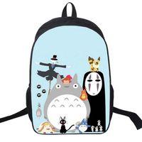 saquinho japonês venda por atacado-Novidade Miyazaki Hayao Meu Vizinho Totoro Mochila Anime Japonês Escola Bolsa de Ombro Para Adolescentes Satchel Mochila Casuais Sacos