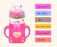 Wholesale feeding bears - Baby Feeding Bottle Infant bear shape Milk Bottle Shatter Proof Milk Bottles Feeding Baby Water Cup
