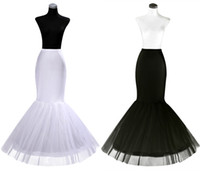 gelin bir çemberlik petticoat toptan satış-2019 Ucuz Bir Hoop Petticoat Kabarık Etek Mermaid Gelinlik için Flounced Mermaid Petticoat Kayma Gelin Aksesuarları