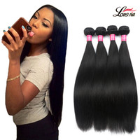 Wholesale Nature Hair Weave - Peruvian Virgin Straight Hair Extensions Brazilian Straight Hair 3 4 Bundles Deals Nature Color 100% Unprocessed Straight Human Hair Weaves