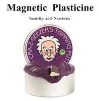 ingrosso mano di gomma-Fango gomma magnetica gomma handgum gomma silly stucco magnete argilla plastilina magnetica ferrofluido fai da te giocattoli creativi
