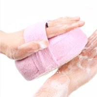 luvas de chuveiro loofah venda por atacado-Chuveiro Natural Esponja de Banho Esponja Loofah Spa Esfoliante Pad Ferramenta de Limpeza Do Corpo Luva Aleatória ColorP1