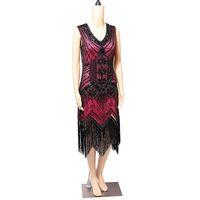 свадебные платья оптовых-9 Colors Vintage Women Dance Clothes Sequins Costume Fringe Dinner Party Formal Gowns Ballroom Dresses  Latin Dance