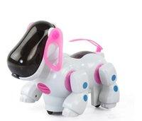 elektrikli köpek oyuncakları toptan satış-Işık ve müzik ile yeni sıcak satış Elektrikli köpek müzik tekeri başını salladı ve kuyruk çocuk eğitici oyuncaklar toptan tedarik Ücretsiz Kargo