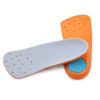 massagem ortopédica venda por atacado-Macio arco sete pontos palmilha feminina pés chatos palmilhas ortopédicos homens absorção de choque espessamento absorção de suor respirável massagem cushio