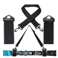 Wholesale Pole Cross - Ski And Double Cross Country Carrier Shoulder Sling Detachable Nordic Holder Straps Belt Alpine For Ski board Skis & Poles