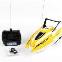 juguete de control remoto barcos niños al por mayor-RC Boats Ship Powerful Double Motor Radio Control Remoto Racing Speed ​​Modelo de Juguete Eléctrico Ship Children Gift RC Boats Control Vehicles toys
