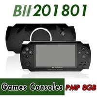 pmp mp5 8gb groihandel-PMP 4GB 8GB Handheld-Spielkonsole 4,3-Zoll-Bildschirm mp4-Player MP5-Spiel-Player echte 8GB Unterstützung für PSP-Spiel, Kamera, Video, E-Book NEU 50X