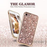 Wholesale hybrid diamond cases online – custom The Glamor in Slim Hybrid Diamond Bling Glitter Case For iPhone X Plus Samsung S9 Plus Note
