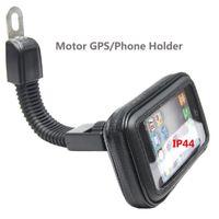 передвижная подставка для мотоциклов оптовых-Мотор мобильный телефон случае держатель 360 вращающийся стенд мотоцикл зеркало заднего вида держатель для автомобиля GPS iPhoneX 7 7S 8 Плюс Samsung