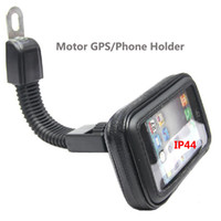motorlu tezgahlar toptan satış-Motor Cep Telefonu Kılıfı Tutucu 360 Dönen Standı Motosiklet Dikiz Aynası Tutucu Araba GPS iPhoneX için 7 7 S 8 Artı Samsung