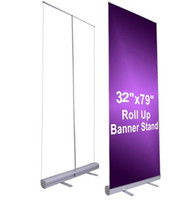 Wholesale roll banner stand - 80*200cm Professional Retractable Roll Up Banner Stand Trade Show Signage Display Brand New