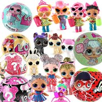 Wholesale doll dress toys - 10CM LOL Dolls Functional Spray Water Dress Up Baby Ball Dolls Horse Animals Action Figures Toys Animal Girl Birthday Christmas Gift