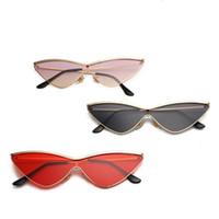 ingrosso occhiali caldi caldi-Occhiali da sole con montatura a triangolo di vendita calda Occhiali da sole per il design fresco da donna Occhiali da sole a 12 colori Occhiali da sole UV400 Vendita all'ingrosso di occhiali