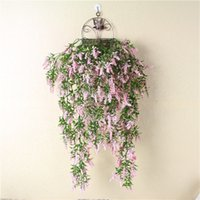 Wholesale wall adornment - Lavender Wall Hanging Parlor Adornment Simulation Plant Artificial Flower Hang Basket Plastic Flowers With Fake Multicolor 8 3yl jj