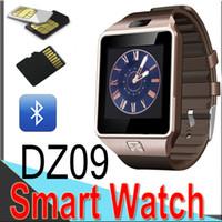 Wholesale DZ09 Smart Watch Dz09 Watches Wristband Android Watch Smart SIM Intelligent Mobile Phone Sleep State Smart watch Retail Package XCT09