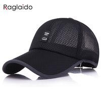 Wholesale fitted mesh baseball hats - Raglaido golf caps men summer baseball caps solid mesh snapback adjustable casual outdoor fitted hat LQJ01437