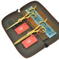 kamm-kit professionell großhandel-6,0 Zoll Meisha Professional Japan Haarschere Kits mit Kamm Friseur Barber Cutting Effilierschere Salon Haarschnitt Ausrüstung HA0447